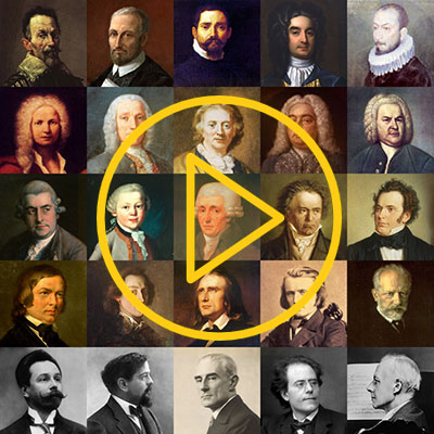 Classical music test - a Quiz game about famous composers